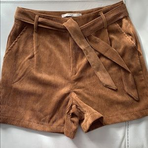 NastyGal K.Zell Corduroy brown shorts, Size L